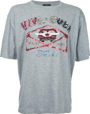 Sequinned T Shirt Men Cottonpolyester 1, Grey