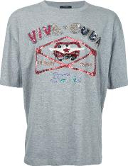 Sequinned T Shirt Men Polyestercotton 2, Grey