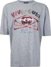 Taakk Sequinned T Shirt Men Cottonpolyester 3, Grey