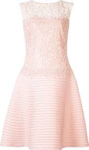 Lace Panel Dress Women Nylonpolyesterspandexelastanerayon 14, Pinkpurple
