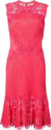 Lace Panelled Fitted Dress