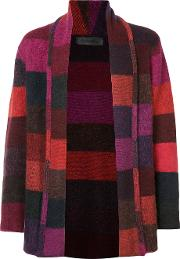 Cashmere Italy Smoking Striped Cardigan Unisex Cashmere S, Red