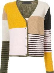 Colour Block Striped Cardigan