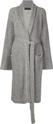 The Elder Statesman Cashmere Long Cardigan Women Cashmere M, Grey