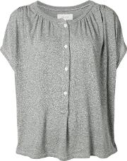 Henley Blouse Women Cottonpolyesterrayon 1, Grey