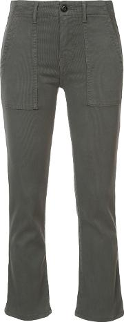 The Great Cropped Trousers Women Cottonspandexelastanelyocell 28, Green