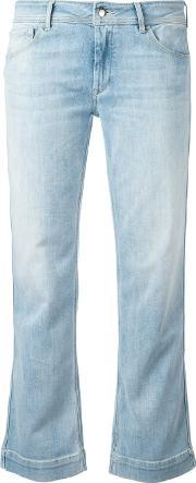 Bootcut Cropped Jeans Women Cottonpolyester 26, Women's, Blue
