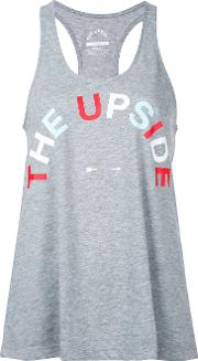 The Upside Logo Tank Top Women Cotton Xxs, Grey