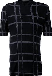 The Viridi Anne Checked T Shirt Men Cottonmodal 5, Black