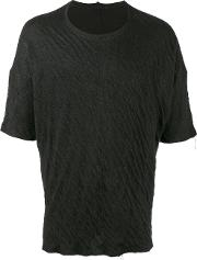The Viridi Anne Knitted T Shirt Men Cottonramie 4, Black