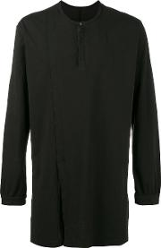 The Viridi Anne Long Sleeve T Shirt Men Cotton 2, Black