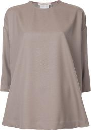 Theatre Products Loose Fit Plain Blouse Women Wool One Size, Grey