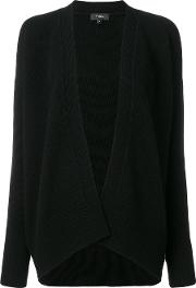 Theory Open Front Cardigan Women Cashmere M, Black
