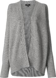 Theory Open Front Cashmere Cardigan Women Cashmere M, Grey
