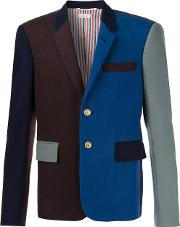 Colour Block Blazer Men Wool Ii