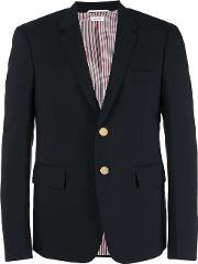 Notched Lapel Blazer Men Cottoncuprowool 2