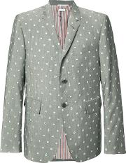 Portal And Anchor Print Blazer Men Cupromohairwool 2, Grey