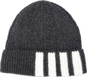 Thom Browne Ribbed Beanie Men Cashmere One Size, Grey