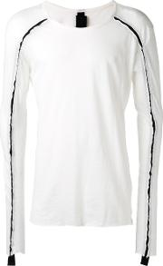 Contrast Detail T Shirt Men Cottonlinenflax Xs, White