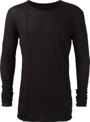 Elongated Sleeves T Shirt Men Cotton S, Black