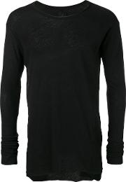 Long Sleeve T Shirt Men Cottonlinenflax M, Black