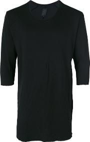 Thom Krom Raw Hem T Shirt Men Cotton S, Black