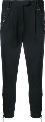 Stud Detailed Tapered Trousers