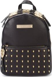 Venice Backpack Women Leather One Size, Black