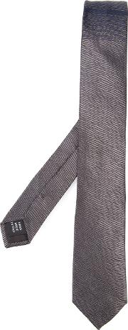 Patterned Tie Unisex Silk One Size, Grey