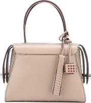 Tod's Contrast Trimmings Tote Bag Women Calf Leather One Size, Nudeneutrals