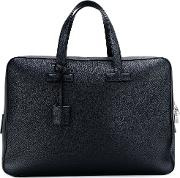 T Line Briefcase Men Cottoncalf Leatherpolyester One Size, Blue