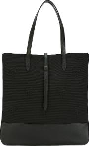 Classic Shopping Bag Women Cottonleather One Size, Black