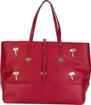 Granda Palms Tote Bag Women Leather One Size, Red