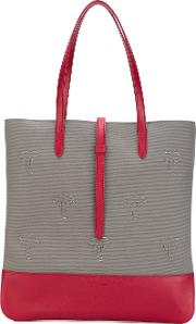 Palms Patches Shopping Bag Women Leathernylon One Size, Nudeneutrals