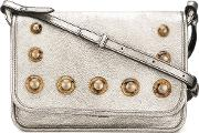 Studded Crossbody Bag Women Leathermetal Other amber One Size, Grey