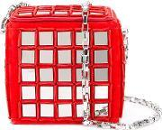 'stanley' Cross Body Bag Women Calf Leather One Size, Women's, Red
