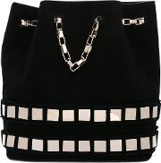 Embellished Bucket Tote Women Calf Suede One Size, Black