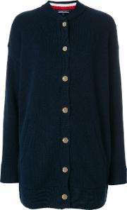 Tommy Hilfiger Long Slogan Back Cardigan Women Polyamidewool S, Blue