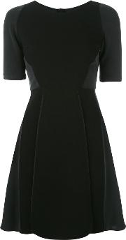 Fitted Dress Women Cottonpolyesterspandexelastane 36, Black