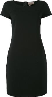 Fitted Dress Women Polyester 42, Black
