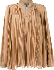 Ruched Blouse Women Polyester 40, Nudeneutrals