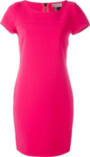 Shift Dress Women Polyester 38, Pinkpurple