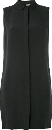 Shirt Dress Women Silk 40, Black