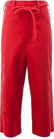 The Sculptor Trousers Women Cotton 4, Red