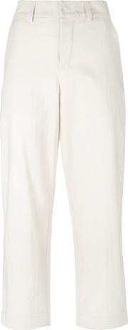 Toogood Tapered Cropped Trousers Women Cotton 1, Nudeneutrals