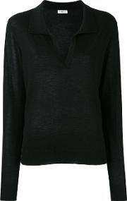 Cashmere Collar Jumper Women Cashmere L, Black