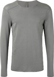 Longsleeved T Shirt Men Cotton L, Grey