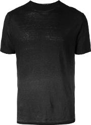 Ombre T Shirt Men Linenflax M, Black