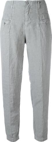 Panelled Trousers Women Linenflax 4