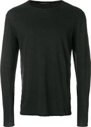 Transit Long Sleeve T Shirt Men Cotton Xl, Black
